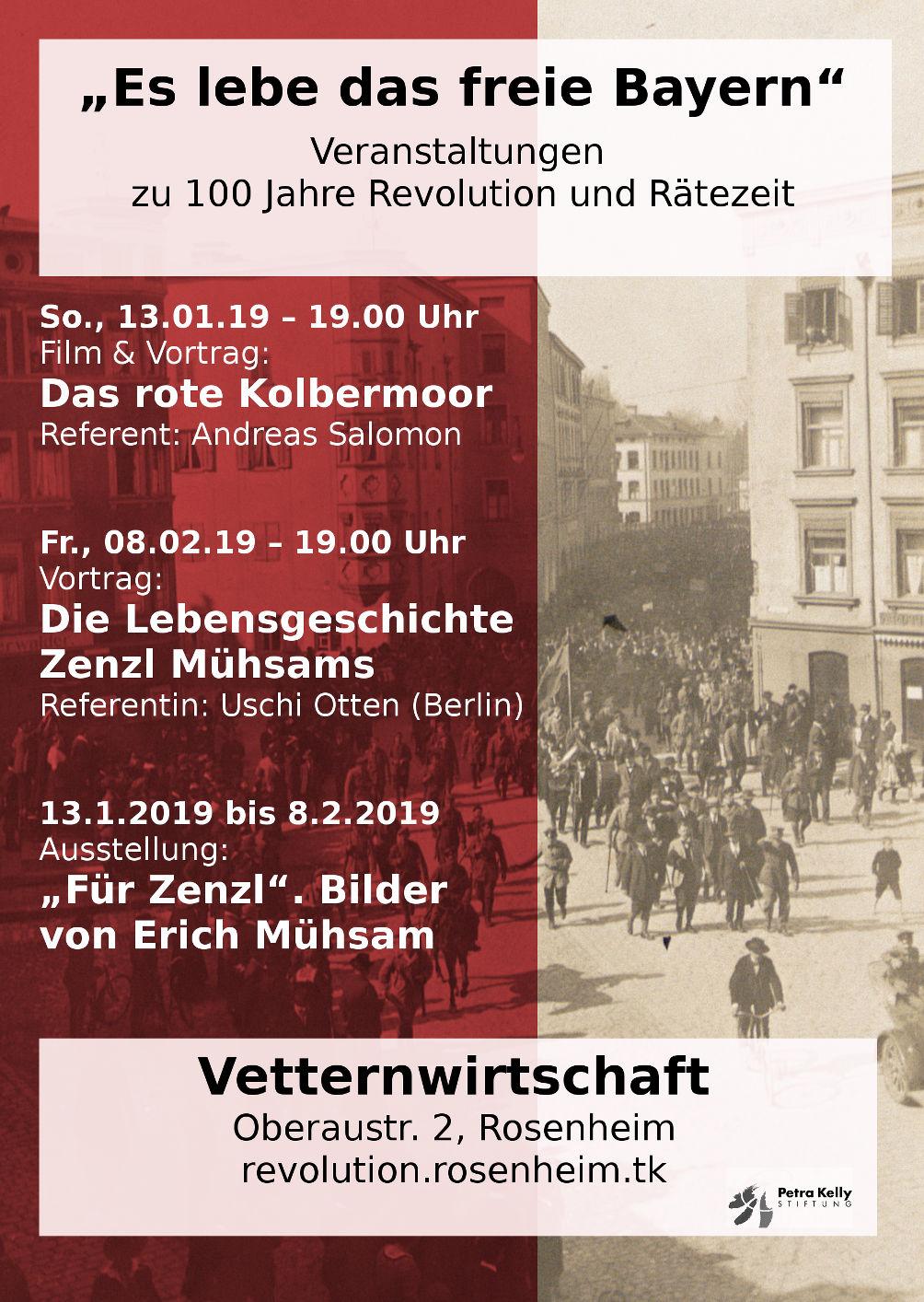 Das rote Kolbermoor  –  So., 13.01.19: Film, Vortrag